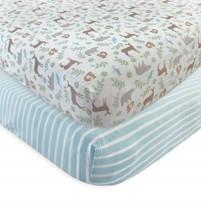 touched by nature crib sheets blue