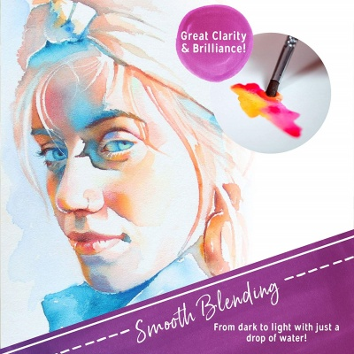 crafts 4 all 24 premium watercolor paint smooth blending