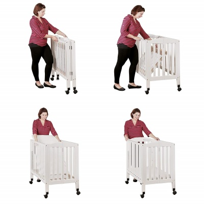 dream on me 2 in 1 portable mini crib easy to use