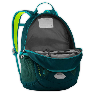 the north face recon kids hiking backpack open