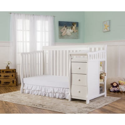 dream on me 5-in-1 brody crib with changing table convertible