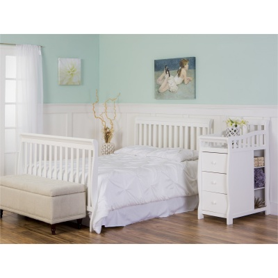 dream on me 5-in-1 brody crib with changing table bed