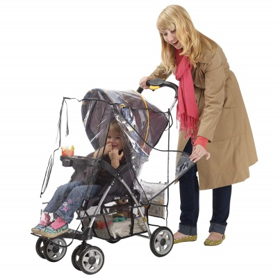 jeep deluxe shield stroller cover transparent