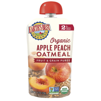 earth's best baby food pouch apple peach