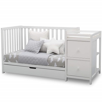 delta children heartland crib with changing table convertible