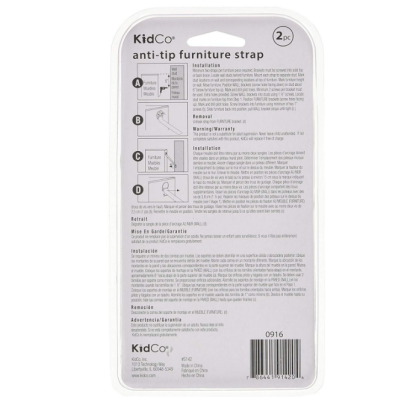 kidCo anti-tip furniture anchors instructions