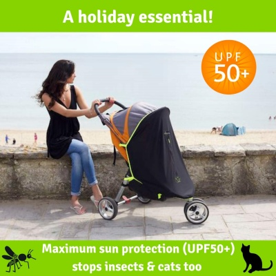 snoozeShade UPF50+ stroller cover protection
