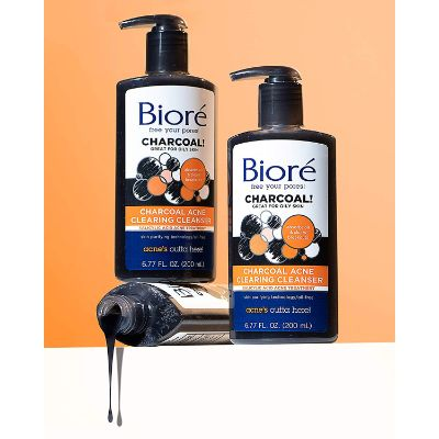 biore charcoal face wash for teens oil free