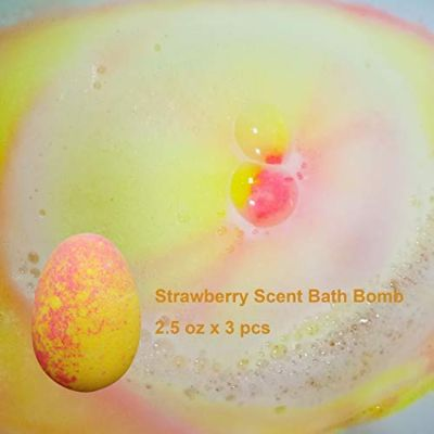 clear and fresh bath bombs for kids strawberry