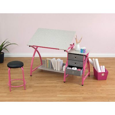comet center kids desk storage shelf