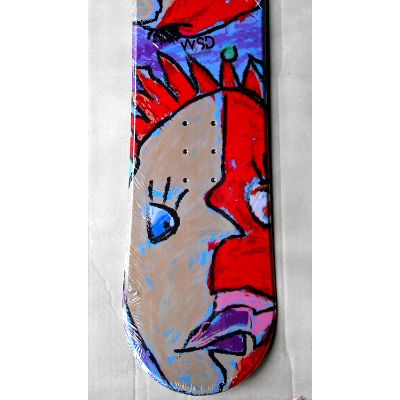 face wood core snowboard for kids close up