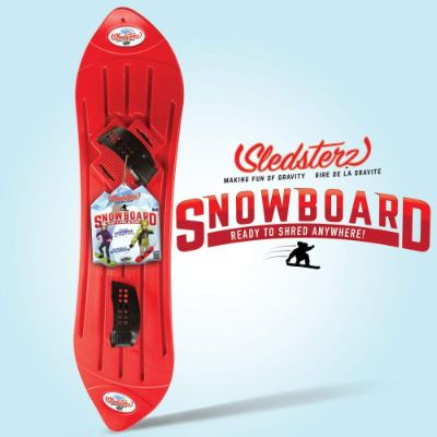 sledsterz snowboard for kids red