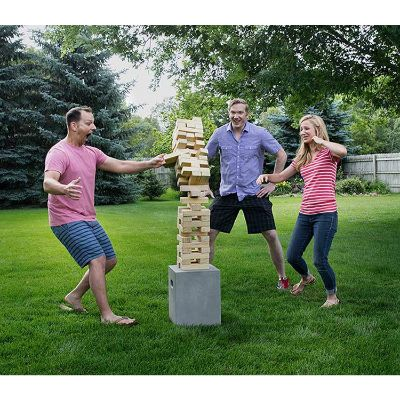 giant tumbling timbers outdoor game size