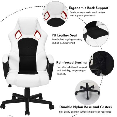 giantex gaming chair for kids leather