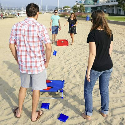 gosports portable cornhole outdoor game how to play