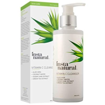 instanatural vitamin c face wash for teens exfoliating