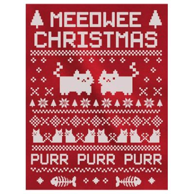 Meowee Christmas Sweater Close Up