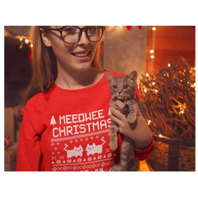 Meowee Christmas Sweater CAT
