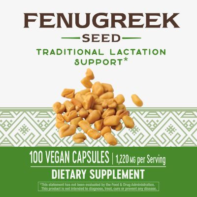 natures way seed fenugreek supplement 100 capsules