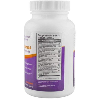 Fairhaven Postnatal Vitamins Label