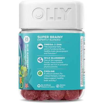 OLLY Kids Super Brainy Gummies Side