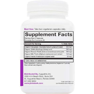 Pink Story True Milk Vitamins Supplement Facts