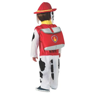 paw patrol marshall halloween costume for kids back
