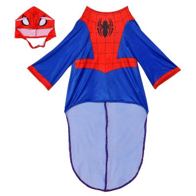 spider man halloween dog costume front