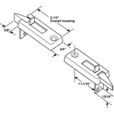 Spring Loaded Sliding Window Tilt Latch Best Window Locks dimensions