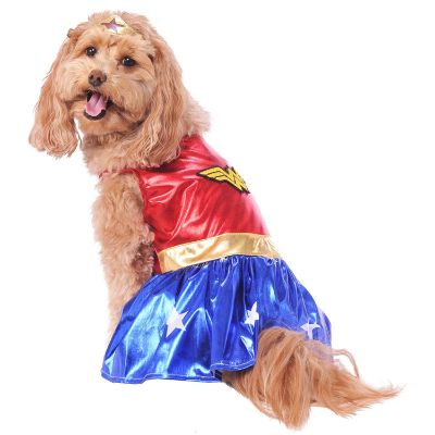 wonder woman halloween dog costume big