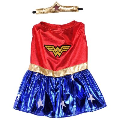 wonder woman halloween dog costume design