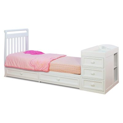 Athena Daphne convertible crib with changing table toddler bed