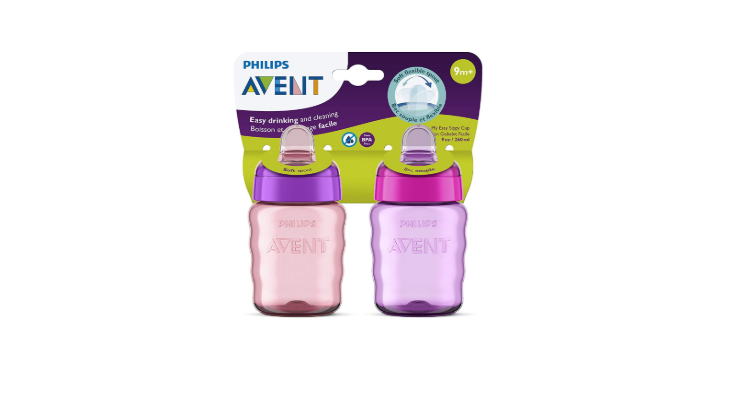 Philips AVENT My Easy Sippy Cup 2 pack pink