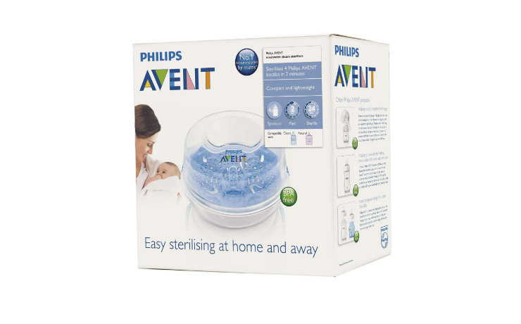 Philips Avent Microwave Steam Sterilizer packaging