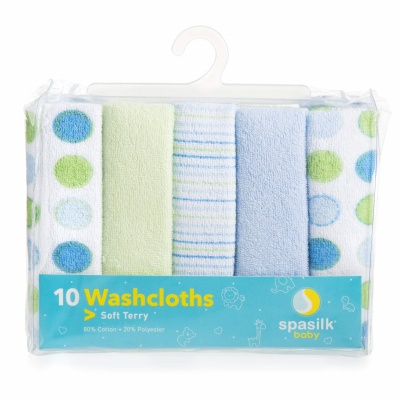 spasilk soft terry baby washcloths pack