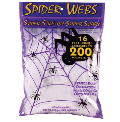 super stretch spider web halloween decorations 200 pieces