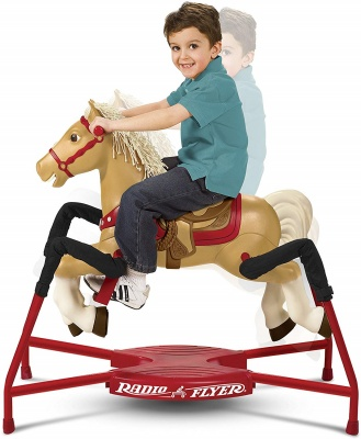 radio flyer champion rocking horse easy to get on and off
