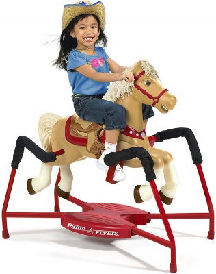 radio flyer champion rocking horse design