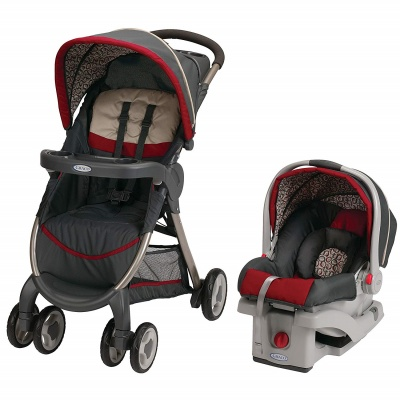 graco stroller fastAction se travel system carbie red