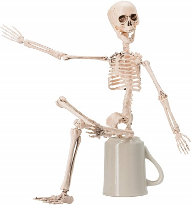 posable skeleton halloween decorations sitting