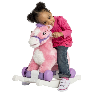candy rocking horse pink