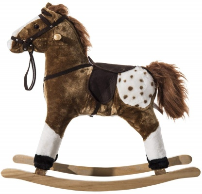 qaba plush rocking horse design