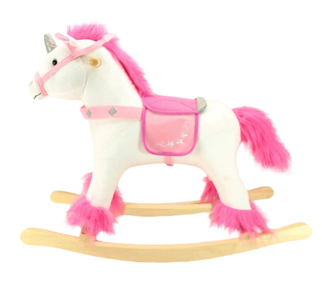 animal adventure unicorn rocking horse pink and white