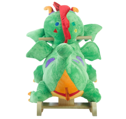 poof the lil' dragon rocking horse back