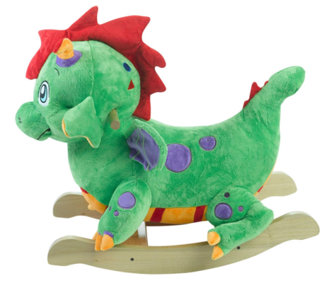 poof the lil' dragon rocking horse side