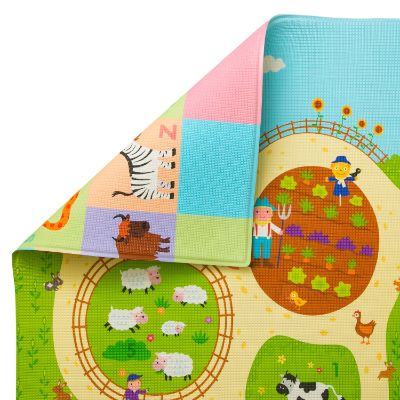 baby care large busy farm baby playmat pattern