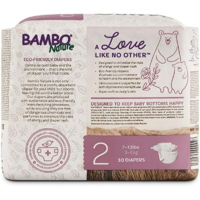 bambo nature biodegradable diapers back