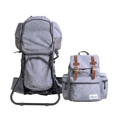 clevr urban explorer baby carrier for hiking grey set