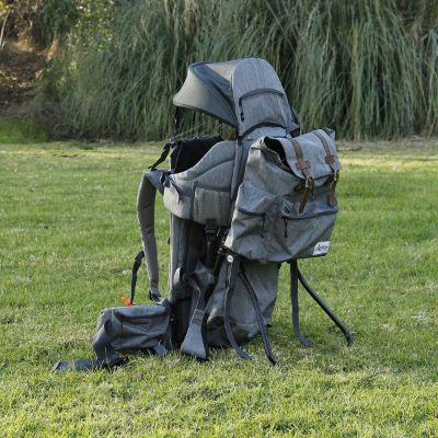 clevr urban explorer baby carrier for hiking grey field