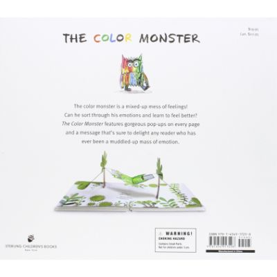 the color monster pop up book back